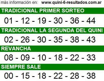 Sorteo 2177 Quini 6 20/08/2014