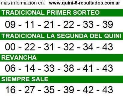 Sorteo 2180 Quini 6 31/08/2014