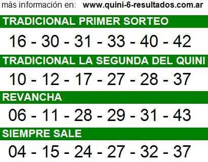 Sorteo 2184 Quini 6 14/09/2014