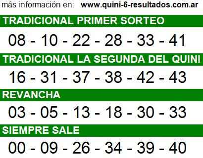 Sorteo 2188 Quini 6 28/09/2014