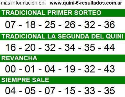 Sorteo 2194 Quini 6 19/10/2014