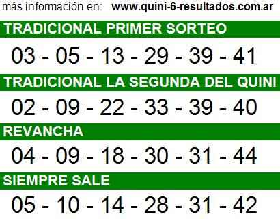 Sorteo 2195 Quini 6 22/10/2014