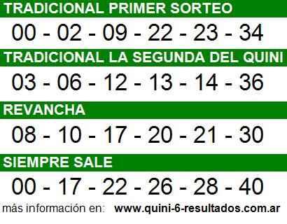 Sorteo 2203 Quini 6 19/11/2014
