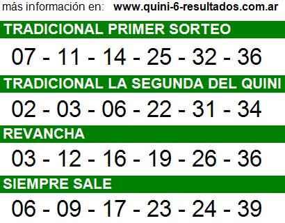 Sorteo 2205 Quini 6 26/11/2014