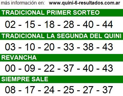 Sorteo 2275 Quini 6 29/07/2015