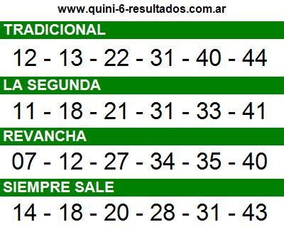 Sorteo 2309 Quini 6 25/11/2015
