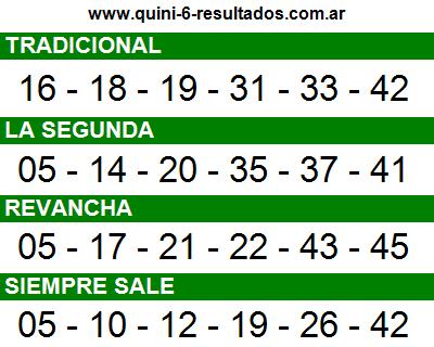 Sorteo 2330 Quini 6 07/02/2016