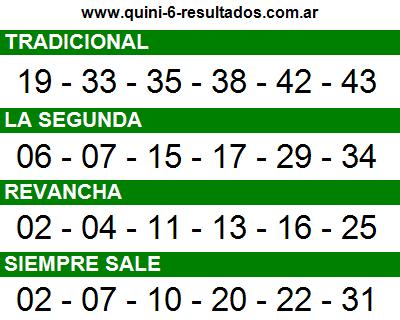 Sorteo 2360 Quini 6 22/05/2016