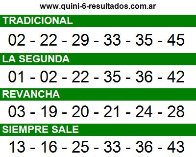 Sorteo 2369 Quini 6 22/06/2016