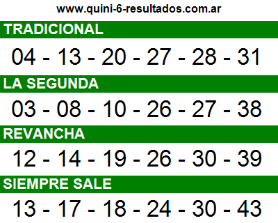 Sorteo 2397 Quini 6 28/09/2016